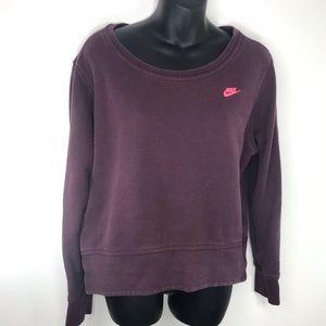 Nike Maroon Track & Field Sweatshirt Med running